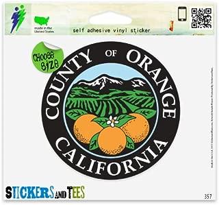 Orange County Seal California Vinyl Car Bumper Window Sticker 2