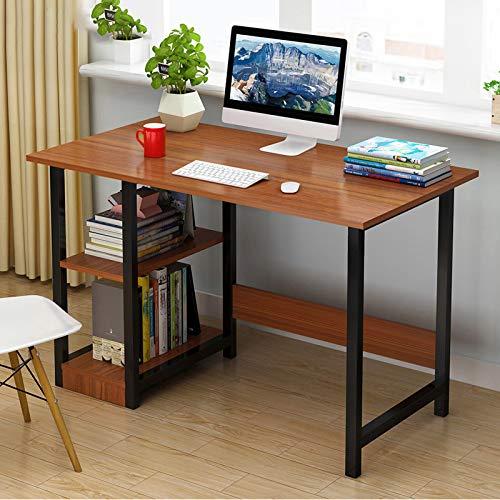 Schreibtisch,Bürotisch,Mit Lagerregalen Schreibtisch,Vereinfachende Kleiner Schreibtisch,Schülerschreibtisch,Schreibtisch Computertisch-B 100x40x72cm(39x16x28inch)