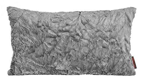 Kissen Kuschelkissen Dekokissen Fluffy grau 30x50cm