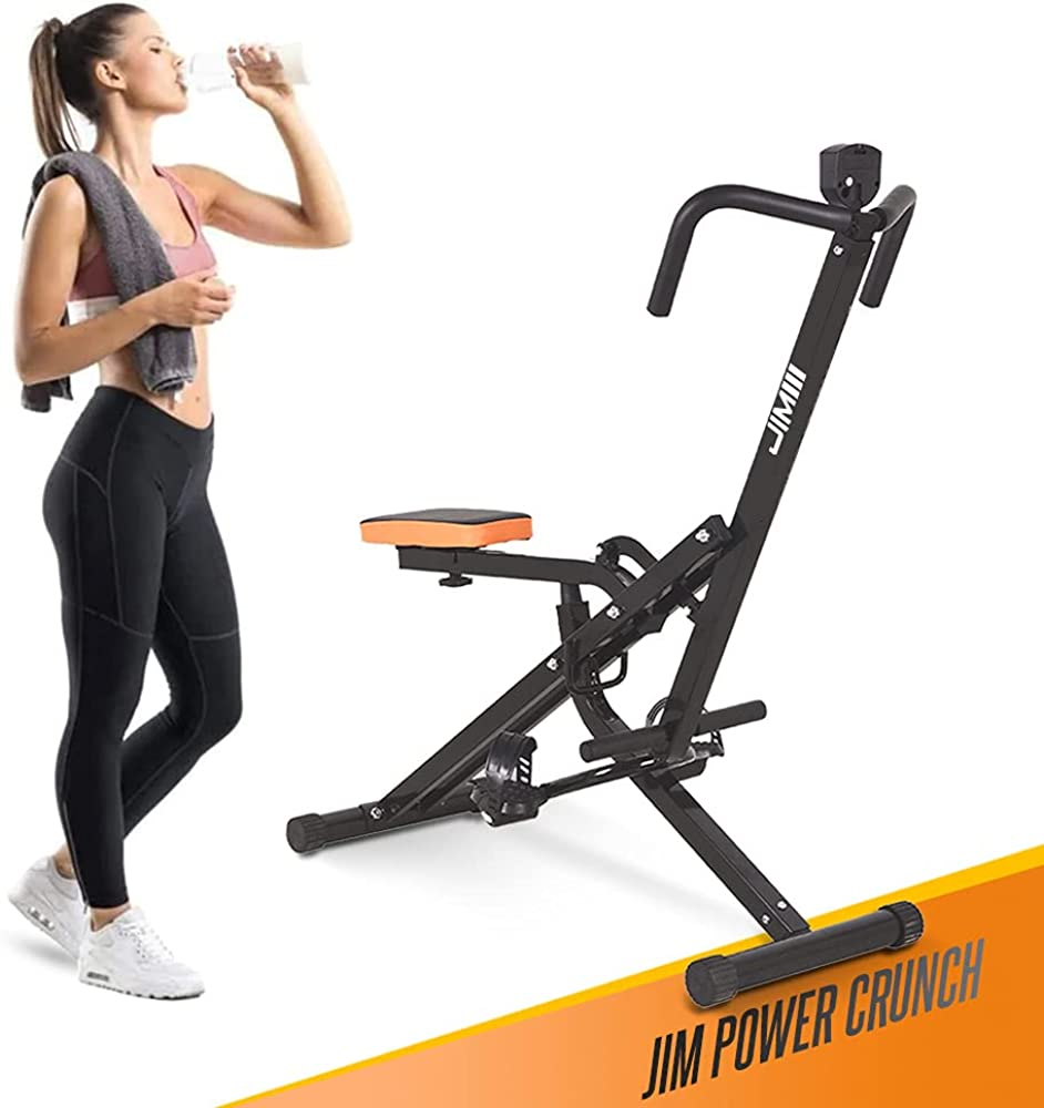 Jim fitness total power crunch, panca richiudibile, allena gambe, braccia, glutei e addominali e schiena