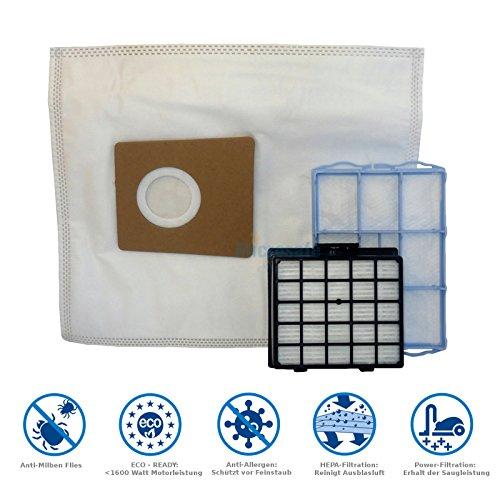 20 Staubsaugerbeutel + 1 Hepa- & 1 Motorfilter für Siemens VS06G2483 / VS06 G2483 Synchropower VS06, VS06G NEU von Microsafe®