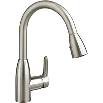 American Standard Fairbury Single Handle Pull Down Sprayer Kitchen Faucet In Stainless Steel Touch On Kitchen Sink Faucets Amazon Com
