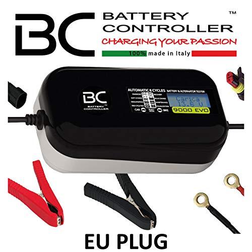 BC 9000 EVO Multilanguage - 12V 1A/9A - Digitales Auto- und Motorrad-Batterieladegerät und Prüfgerät (Analyse der Batterie und der Lichtmaschine)