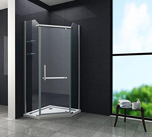 Fünfeck-Duschkabine PENTAGONO 100 x 100 x 195 cm