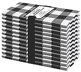 Baumwolle-Klinik 12 Servilletas de Tela Vintage 50 x 50 cm, Servilletas de 100% Algodón Cuadros,...