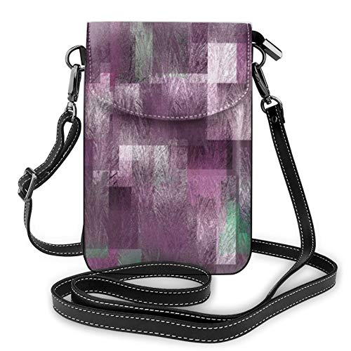 Funda de libro de cuero de camuflaje bandolera para teléfono celular, bolso ligero para mujeres, viajes de compras