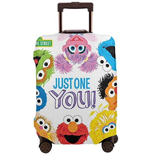 Coo-Kie El-Mo Mon-Ster Elastic Luggage Cover Travel Accessory Zipper Spandex Washable Travel Suitcase Protector Case Fits 18/24/28/32 Inch