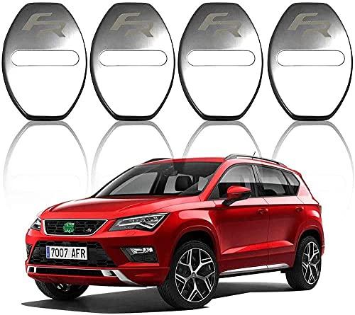 4 Unids Cubierta de la Cerradura de la Puerta del AutomóVil, para Seat Leon FR Ibiza Acero Inoxidable Car Styling Proteccion Accesorios Cubierta Antioxidante