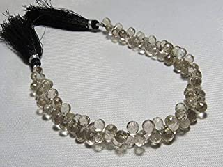 Jewel Beads Natural Beautiful jewellery Smokey Quartz - Natural Color Good Quality - Faceted - Tear Drop Shape - Size 4x6-5x7 mm - Approx 8 Inches LongCode:- JBB-36349