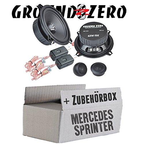Ground Zero GZIC 13X Kompo - 13cm Lautsprecher System - Einbauset für Mercedes Sprinter W906 Front - JUST SOUND best choice for caraudio