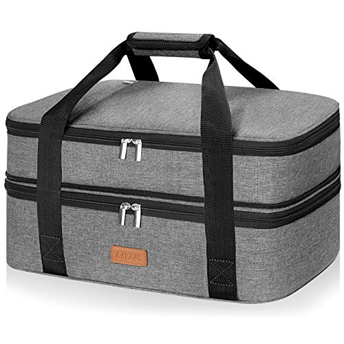 Double Decker Insulated Casserole Carrier for Hot or Cold Food