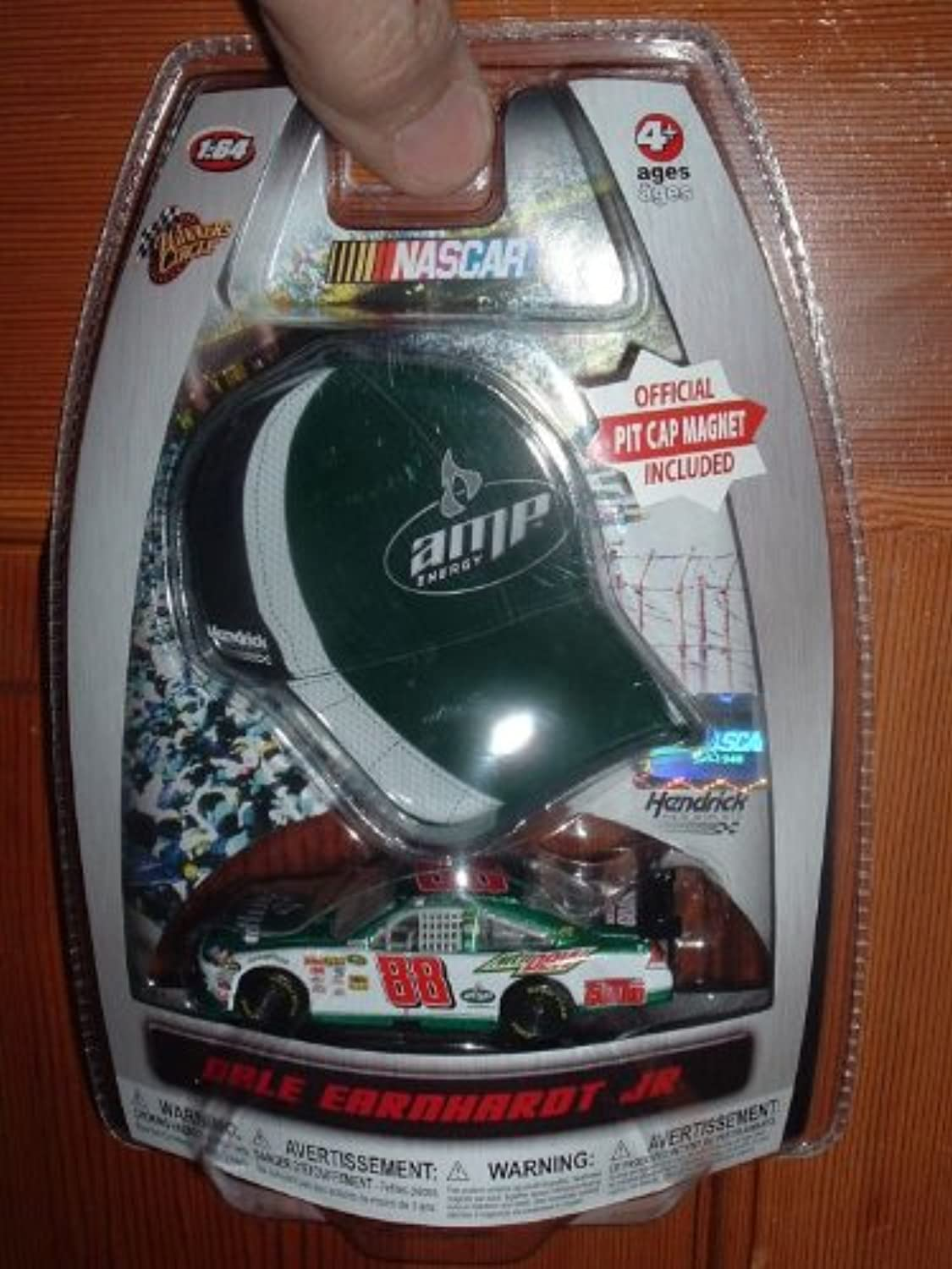 Dale Earnhardt Jr  88 AMP Energy Green White Chevy Impala SS COT 1 64 Scale Diecast & Bonus MiniReplica Official Pit Cap Magnet 2010 Winners Circle Edition by Winners Circle