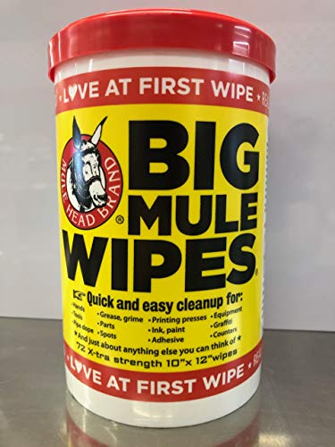 Mule Head Brand Big Mule Wipes MHPBMW6