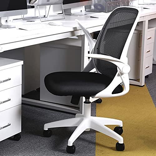 KERDOM 椅子 テレワーク オフィスチェア 人間工学椅子 デスクチェア メッシュバックチェア 腰に良い 学習 おしゃれ 事務 人気 白