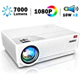 WiMiUS New P28 Native 1080P Movie Projector 7000Lux 4K Support 4D±50°Keystone Correction