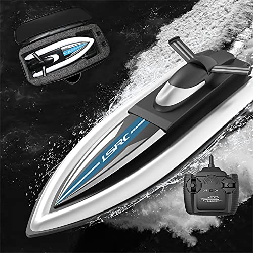 WANGCHAO RC Boat, Remote Control Boats per Piscine e Laghi Dual Motor Drive 20 km/h Avvocata in Barca ad Alta velocità Avventura all'aperto Giocattoli per Bambini e Adulti