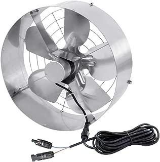 ECO LLC 3000 CFM 65W Air Vent Gable Mount Power Attic Ventilator Fan for Window Fan