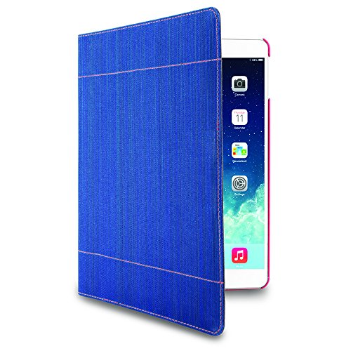 iHome | Stitch - Folio Case for iPad Air - Blue / Red (See More Colors)