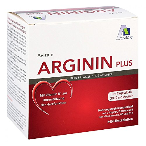 Arginin plus vitamine B1 + B6 + B12 + foliumzuur 240 tabletten