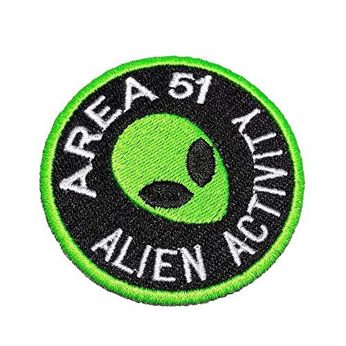 Área 51 Alien Activity ET UFO OVNI Patch Bordado Para Camisa
