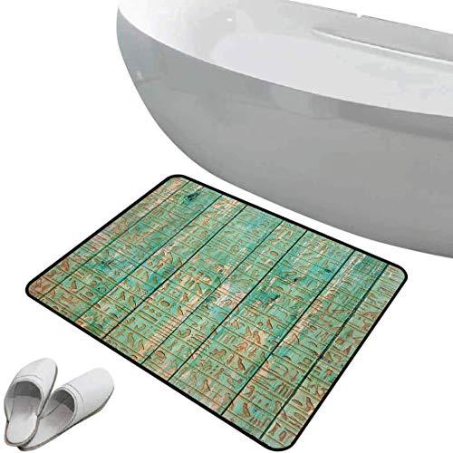 Alfombra de baño antideslizante de felpudo Egipto Alfombrilla goma antideslizante Íconos de...