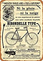 """RCY-T Old French Adverts Bike French Advert 1912 Wall Art 12""""x 8"""" 金属スズレトロヴィンテージサイン"""
