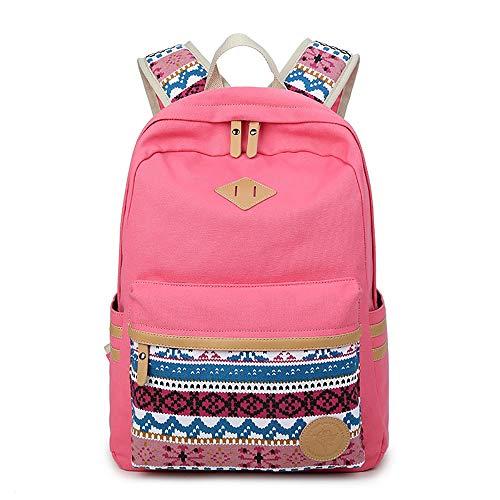 BAACD Junge Mädchen Rucksack USB Reiserucksack Universitätscampus Student Leichter wasserdichter Picknickrucksack mit großer Kapazität Schultasche Rucksack-Pink