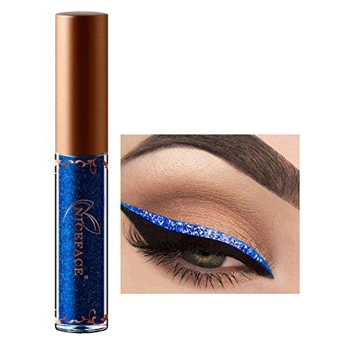 Pigmentierte Diamant Glitzer Flüssig Lidschatten Eyeliner Schminke für Augen Blau,ROMANTIC BEAR