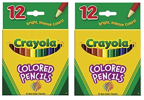 Crayola 68-4112 Colored Pencils, Short, 12 Count (Pack of 2)