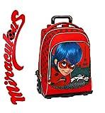 Mochila trolley escuela Miraculous Ladybug Universidad Viaje + collar colgante