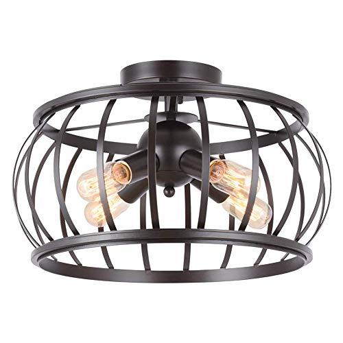 DSFHKUYB Lámpara de Techo Retro Estilo Industrial Lámpara de Techo para Cocina Comedor Dormitorio Vestíbulo Pasillo