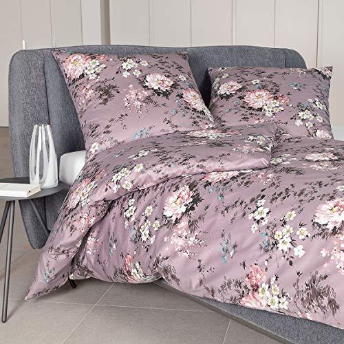 Janine Design Edelflanell Bettwäsche Chinchilla S 78031-01 1 Bettbezug 135x200 cm + 1 Kissenbezug 80x80 cm