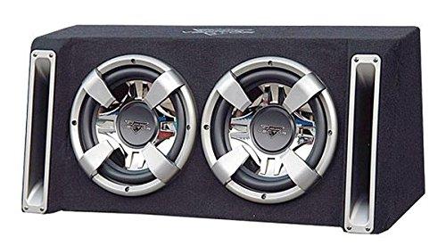 Lanzar VCHB210 Vector 2000-Watt Dual 10-Inch Slim-Designed Bass Box Enclosure