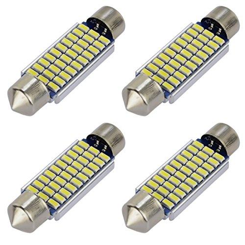 Safego 4x C5W LED Canbus Senza Errori 39mm 30SMD 3014 Lampadine per Luci Interne Auto o Targa a LED Bulbi 3423 6411 Xeno Bianco 6000k-6500k