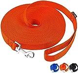 amagood guinzaglio da addestramento per cani e cuccioli, 4,5 m, 6m, 9m, 15m, per addestramento del cane, legare, giocare, sicurezza, campeggio(arancione, 4.5m)