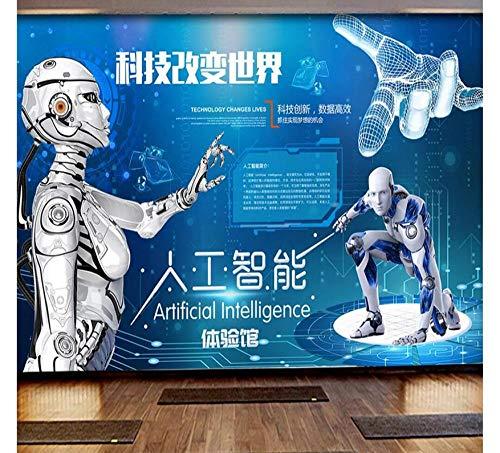 Abstrakt Benutzerdefinierte Wandtapete 3D intelligente Kunstwissenschaft Museum Erfahrung Halle Werkzeug Hintergrund Wand dekorative Malerei-3
