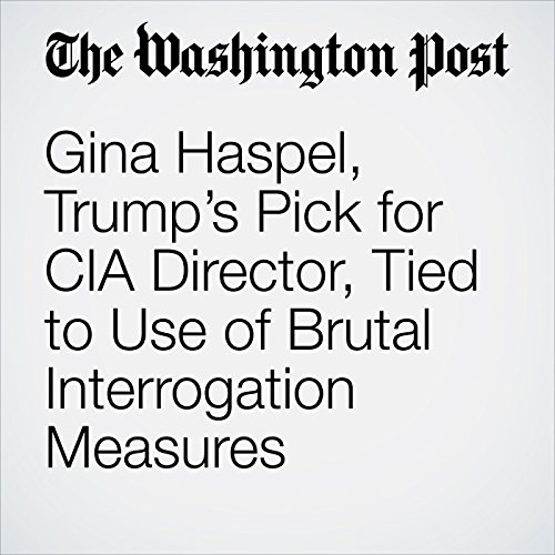 Gina Haspel, Trump's Pick for CIA Director, Tied to Use of Brutal Interrogation Measures copertina