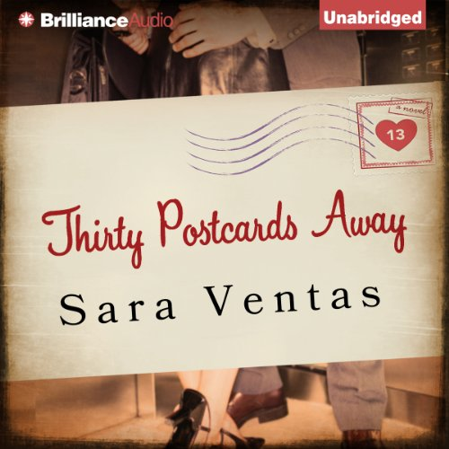 Thirty Postcards Away audiobook cover art