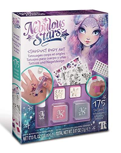 Nebulous Stars NS11012 creatieve set tattoos en nageldesign, met tattoos en lichaamskleur, voor huid en nagels, voor meisjes vanaf 7 jaar, als cadeau-idee