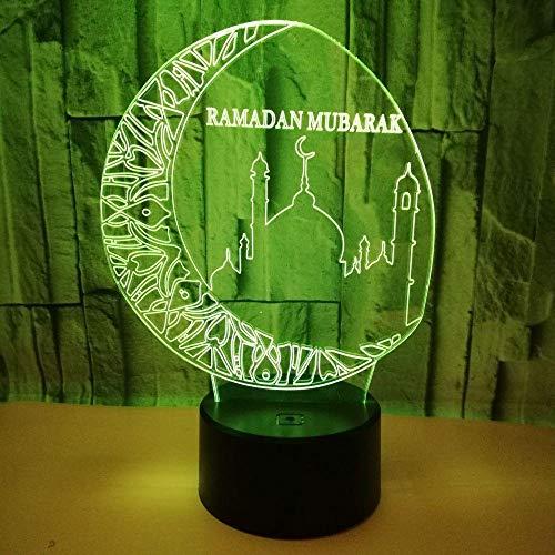 Muslim , USB-Schnittstelle, bunte Berührung Fernbedienung Schalter Nachtlicht Nachttischlampe Kinder Geschenk