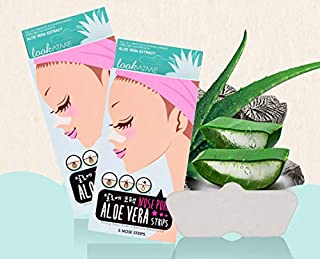 Look At Me Nose Pore Strips (2-Pack, 10 Nose Strips). Korean Skin Care Blackhead Remover with Aloe Vera. K Beauty Pore Cle...