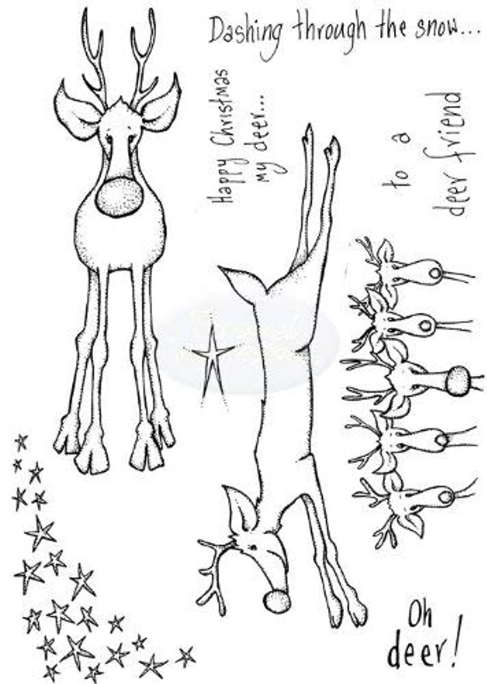 Lindsay Mason Designs A6 Oh Deer Doo-Lally-Pip Clear Stamp, Transparent