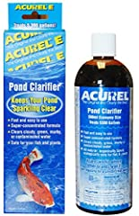 Helps to keep aquarium water crystal clear Clarifies Cloudy, Green Or Polluted Pond Water Natural Product Minimum Effort For Sparkling Clear Water Safe For Pond Fish Plants And Animals Treats 5,300 Gallons Clarifies cloudy, green or polluted pond wat...