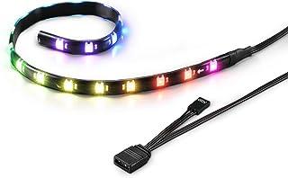 Sharkoon SHARK Blades RGB Strip - Tira LED para Caja de PC Gaming, Negro