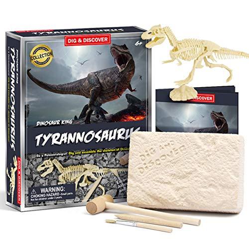 DIGLAB Dinosaur Tyrannosaurus Dig Kit, Dino Fossil Excavation Kit for Kids, Science Education Toys STEM 3D Dinosaur Skeleton DIY Toys for Boys Girls