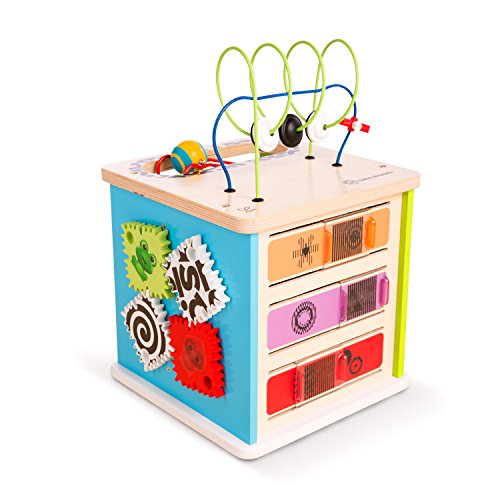 Baby Einstein Innovation Station Wooden Activity Cube Toddler Toy, Ages 12 months and up