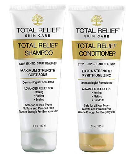Psoriasis Shampoo – Anti Dandruff Shampoo and Conditioner | Dermatologist Patented Dry Scalp Treatment w/ Hydrocortisone | Promotes Hair Growth & Hydrates Itchy Scalp – 1 Month Supply