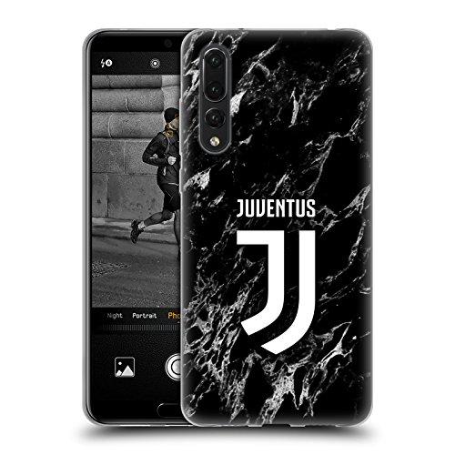 Head Case Designs sous Licence Officielle Juventus Football Club Noir Marbre Coque en Gel Doux Compatible avec Huawei P20 Pro