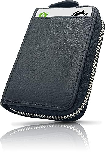 [NEESE] クレジットカードケース カード入れ スキミング防止 じゃばら 大容量 コインケース メンズ レディース (ブラック)