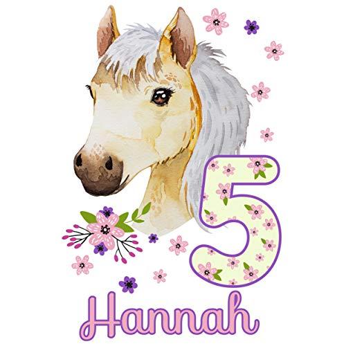 MissRompy Geburtstag Bügelbild Pferd (780) für dunkle und helle Stoffe Zahl groß Aufbügler Pony Alter Bügelbilder Applikation Aufbügelbild